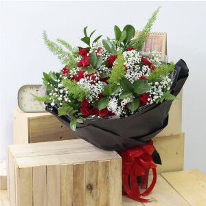 Exquisite Red Roses Bouquet